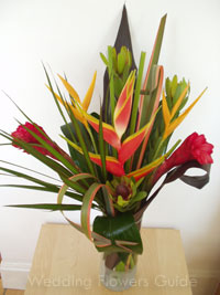 heliconia tropical wedding flowers