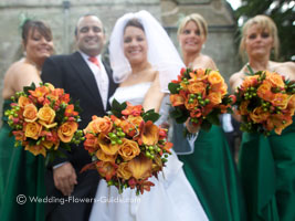 posy bridesmaids bouquets for a fall wedding theme