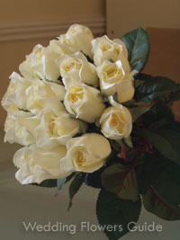 silk wedding bouquet made of roses