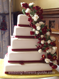 sugar wedding cake flowers