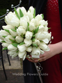 posy bouquet of white tulips