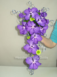 vanda orchids wedding bouquet